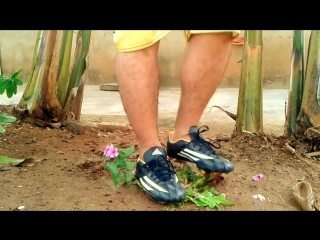 Crushing plants with adidas cleats
