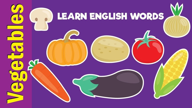 Learn Vegetable Names Video Flash Cards Kindergarten Preschool ESL for Kids Fun Kids English