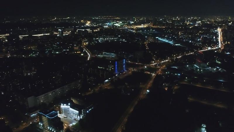 Москва вечером Вековая улица ночью под утро в Москве Велозаводская улица днём