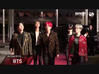 181214 bts @ 2018 mama in hong kong red carpet m2 zone