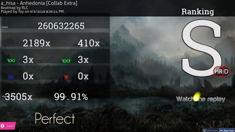 Osu! | Toy | a_hisa - Anhedonia [Collab Extra] HD,HR 99.91% FC 477pp 1 | 3x100, 10 minute map!