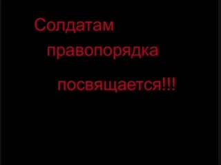 Сергей Тимошенко-Солдатам правопорядка