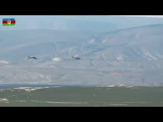 Лётно-тактические учения вертолетных подразделений ВВС Азербайджана.