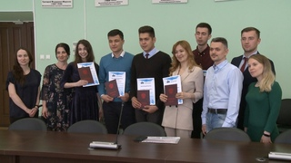 Вручение благодарностей иностранным студентам САФУ