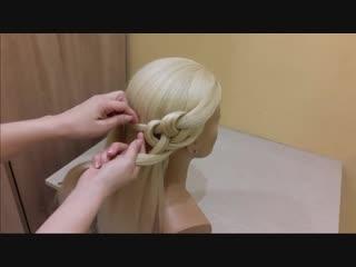 прически для девочек.Красивое и супер легкое плетение волос.