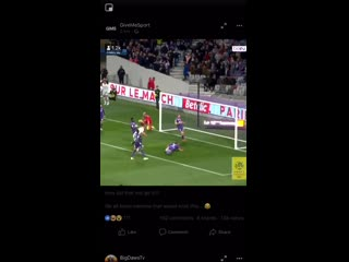 Choupo moting with the miss of the season.