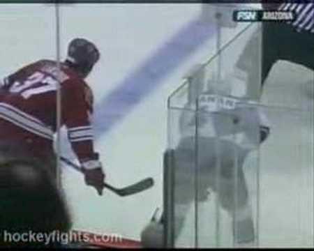 Raitis Ivanans first 7 fights in 06/07 NHL regular season