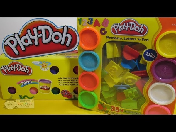 PLAY DOH 24 Mega Pack of Colors and PLAY DOH Letters, NUMBERS n fun Set unboxing fun