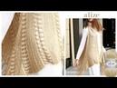 Alize Diva ile Tığ İşi Püsküllü Yelek Crochet Fringe Vest with Alize Diva