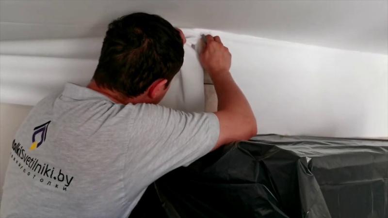 Установка тканевого потолка Descor от в Минске
