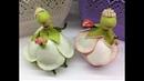 КУКЛА из ФОАМИРАНА Цветочная фея держатель для ювелирных изделий
