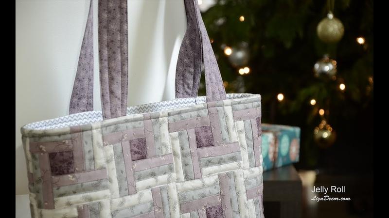 Patchwork Bag Tutorial - Patchworková taška - šití z pruhů.