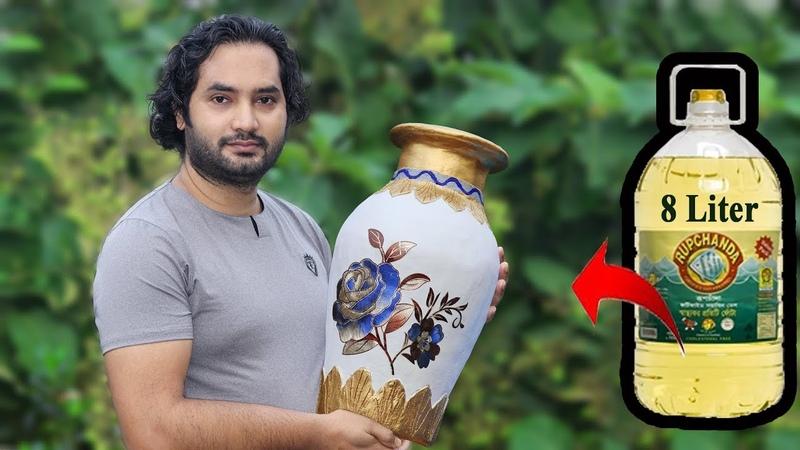 Big size Stylish flower Vase Plastic Bottle Flower Vase Home decor ideas
