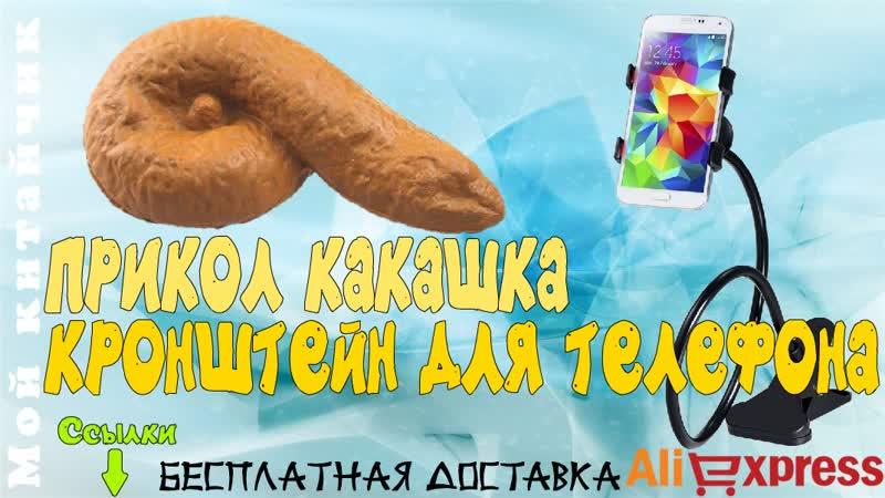 Кронштейн для телефона Какашка прикол Посылка с AliExpress