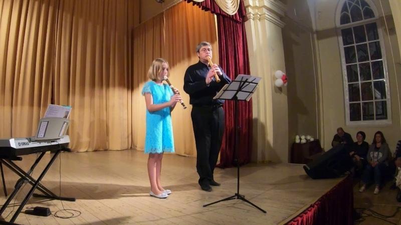 4 recorder duos by English anonimous, XVIII c. Nadya Korneva, Vladimir Khrobystov