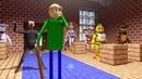 FNAF Monster School BALDI'S BASICS CHALLENGE Minecraft Animation