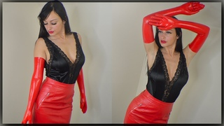 RED LONG LATEX GLOVES REVIEW - Box opening with Cassie Clarke