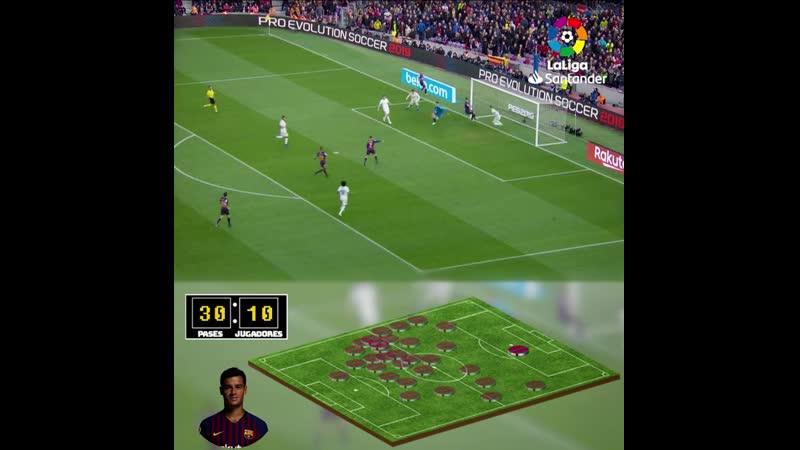 Командный гол Барселоны в ElClasico