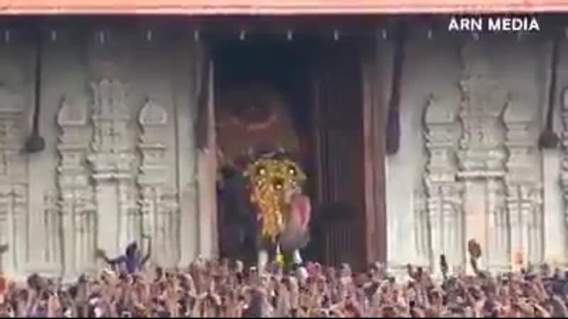 Город Триccур «культурная столица Кералы». Начало фестиваля Триссур Пурам.