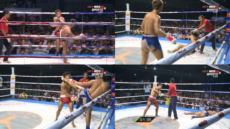 Бирманский бокс летвей разрешён один тайм аут после нокаута Myanmar Thai Lethwei Challenge Fight 27 03 2019