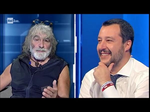 Salvini: Avevo proposto a Corona di fare il Ministro della montagna - cartabianca 04/12/2018