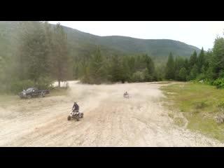 [grind hard plumbing co] 50hp princess jeep vs. 500cc sport quad