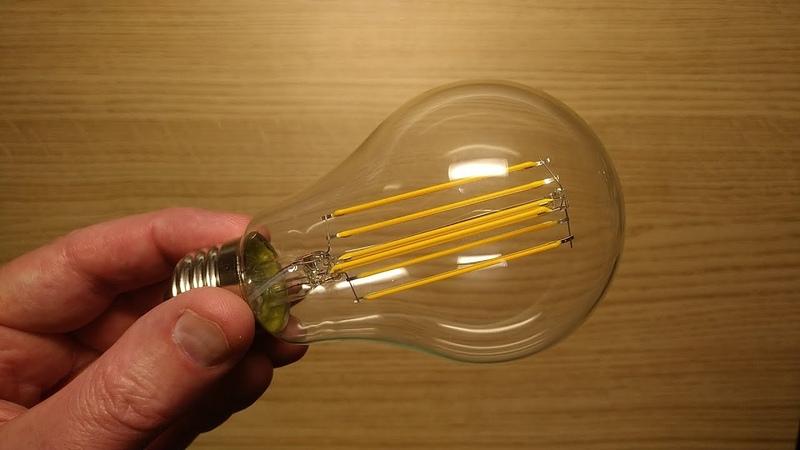 ASDA 12W 100W LED filament lamp teardown with schematic