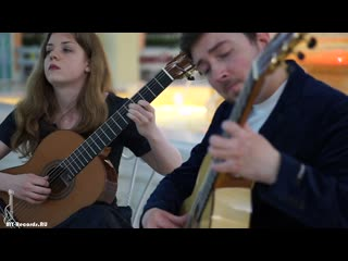 Anastasia Solonina & Aleksandr Yasnev plays  La Bella Anima from suite for 2 guitars