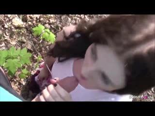 Elisa seduce public park handjob blowjob cumshot teen минет камшот в парке на улице