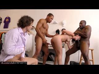 Муж наблюдает и дрочит на то, как трахают его жену Cuckold Session Jade Nile sexwife сексвайф dp double penetration interracial