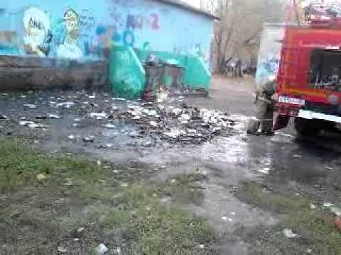МОК 2 г. Воронеж тушение пожара 22.10.2012