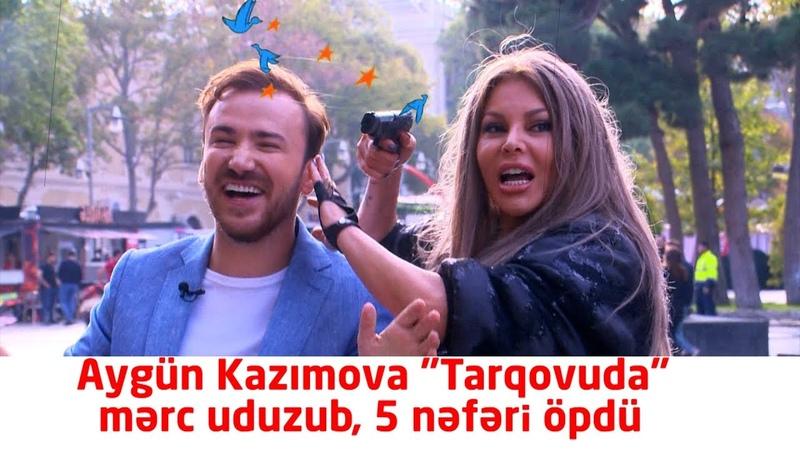 Aygün Kazımova şəhərin mərkəzində 5 nəfəri öpdü Divanın başına gələnlə 3 dəqiqə