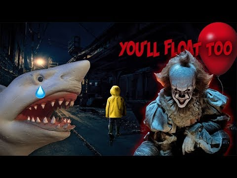 SHARK PUPPET MEETS PENNYWIS3 FROM IT!!