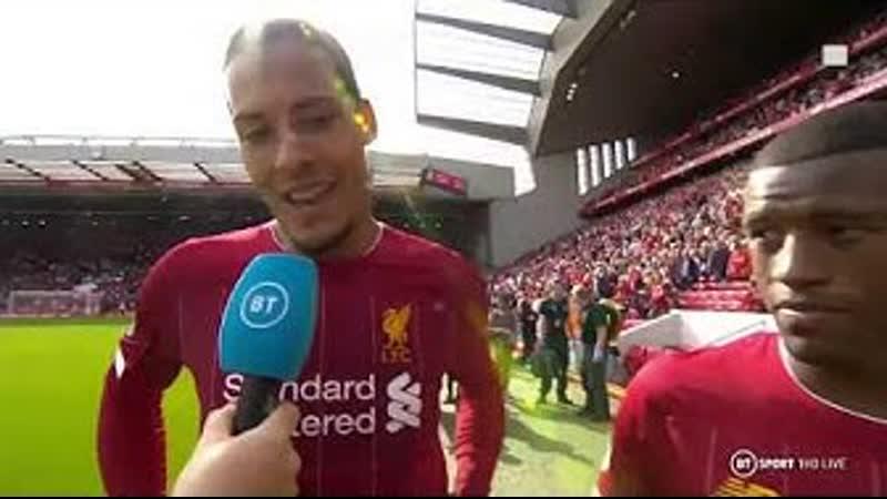 Im glad hes on my team! Van Dijk hails Firminos importance to Liverpool