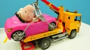 O carro da Mamãe Pig foi evacuado Peppa Pig Português Brasil Brinquedos de desenho animado