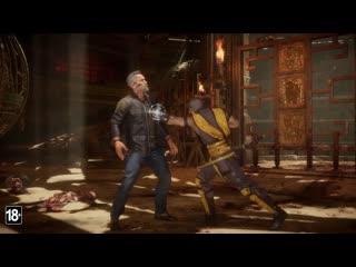 Mortal Kombat 11: Боевой набор  официальный геймплейный трейлер Терминатора модели Т-800