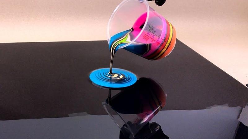 The Black Hole technique - Acrylic fluid art painting