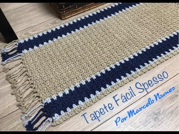 Вяжем коврик дорожку Marcelo Nunes Croche