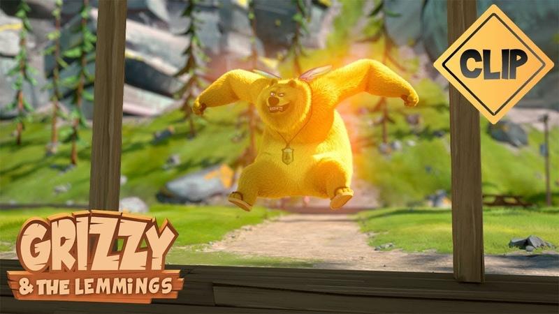 Une potion donne des supers pouvoirs Grizzy les Lemmings