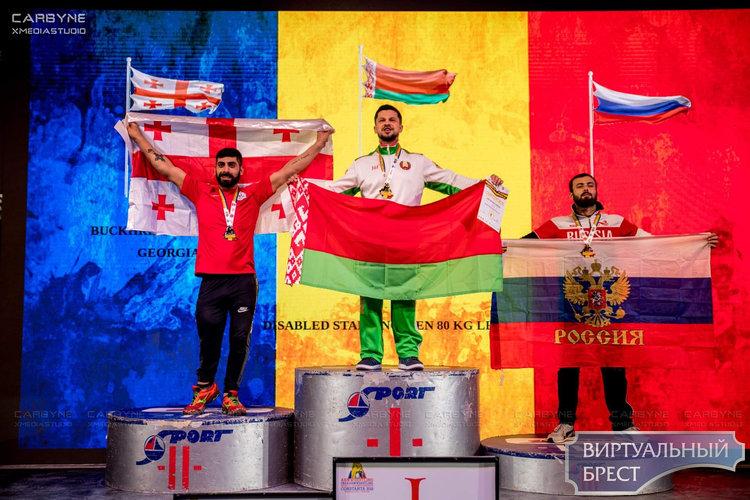 Виктор Братченя завоевал свои 15-ю и 16-ю золотые медали на чемпионате мира по армрестлингу