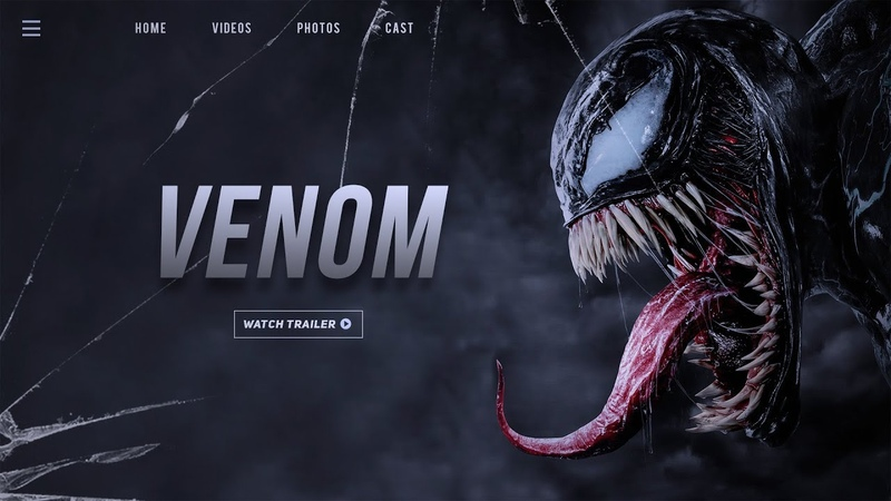Photoshop Tutorial - Movie Website UI Design In Photoshop - Venom Movie