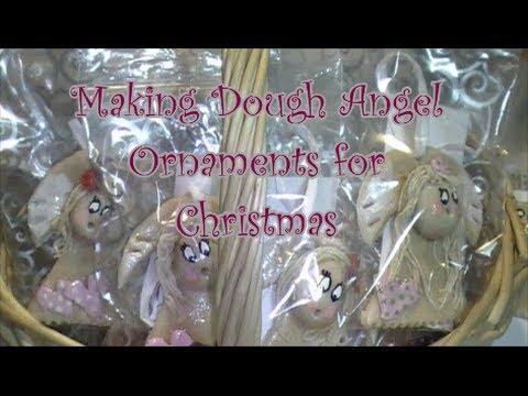 How to Make Salt Dough Angel Ornaments for Christmas