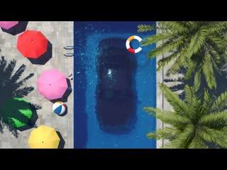 Swimming pool car 夏日车泳