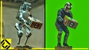 Fake Robot VFX Before After Reveal