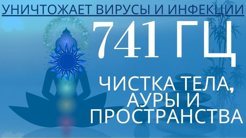 Частота 741 Гц 5 я чакра чистит тело от инфекций ауру и пространство от воздействий и сущностей
