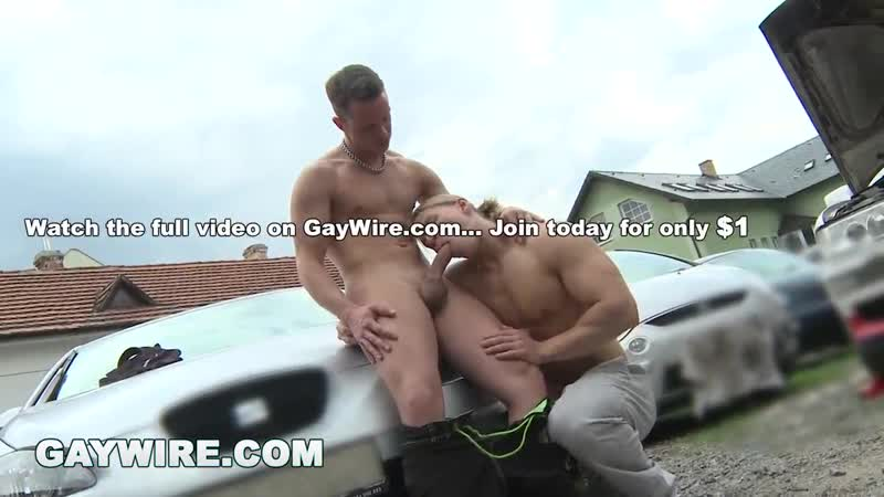 GAYWIRE - Bareback Gay Sex Out In Public with Johan Volny