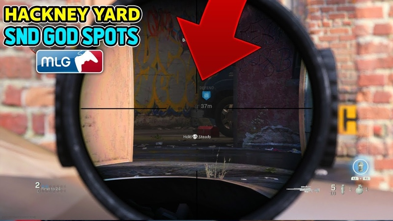 SnD GOD SPOTS on HACKNEY YARD! (COD MW Best Competitive SnD Plant Spots) Call of Duty Modern Warfare