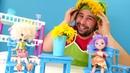 Anneler günü videosu Canlı çiçeklerden taç yapıyoruz Enchantimals oyuncakları
