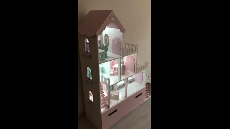 Домик для кукол до 25 см с ящиком)