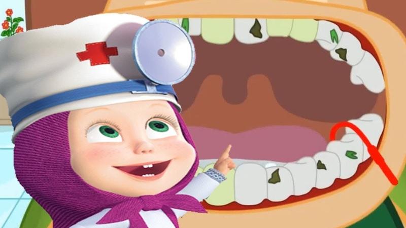 Маша Доктор Зубной Врач Лечит Свинке Розочке Зубки Гиппо Стоматолог Лечит Льву